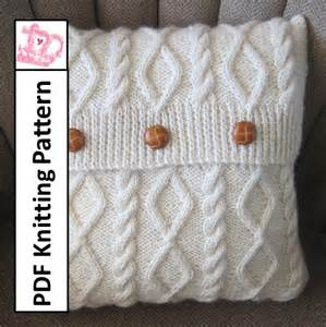 Knitted Cushions Free Patterns Knit Pattern Pdf Cable Knit Pillow Cover Pattern Diamonds