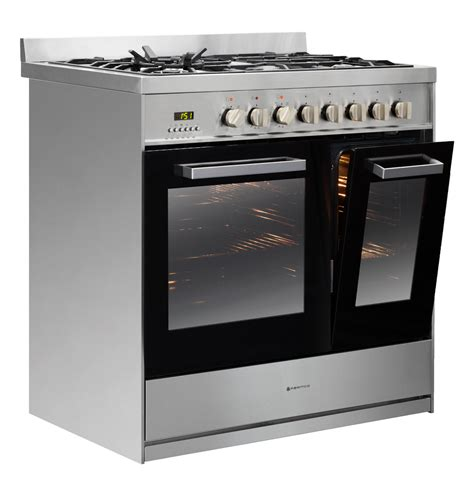 Oven Gas Kiwi 900mm combination freestanding stove 1 1 2 ovens