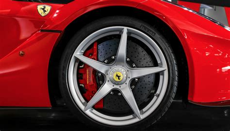 laferrari wheels rosso laferrari with leather interior 68km cars