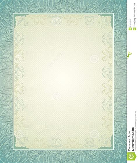 certificate background with calligraphic lines royalty