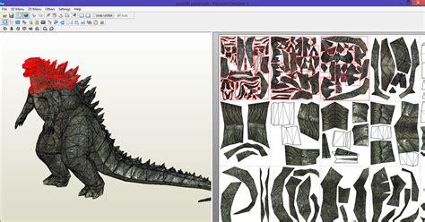 Papercraft Godzilla - alejandr0 godzilla part 1