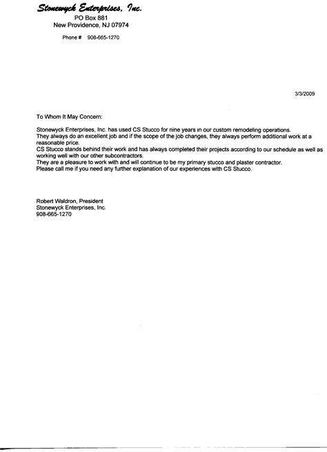 Subcontractor Warranty Letter Template Sles Letter Template Collection Flooring Installation Warranty Template