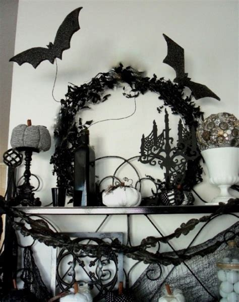 elegant halloween home decor 70 ideas for elegant black and white halloween decor digsdigs