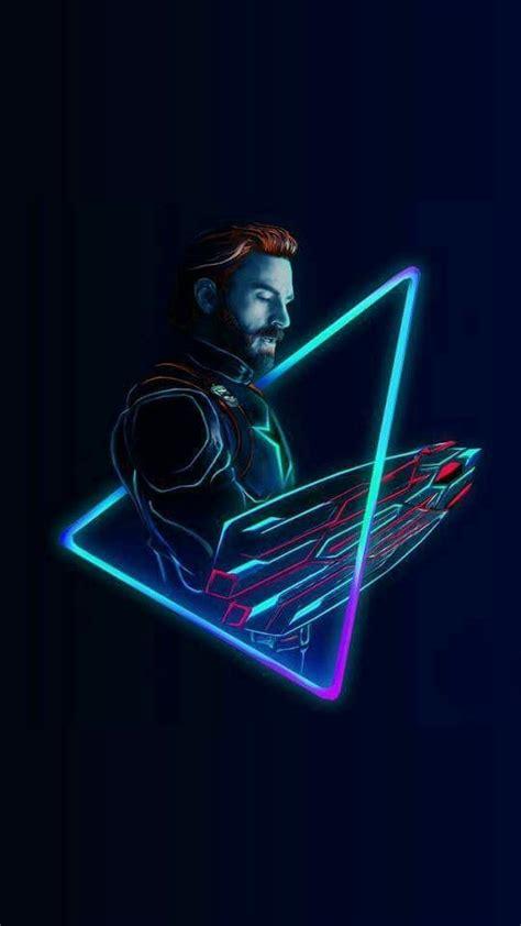 captain america neon avengers infinity war iphone
