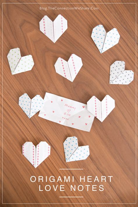 Origami Heart Love Notes Fun Crafts Kids