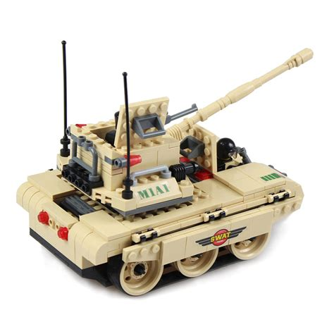 Jie 20036 3 Flying Tigers Army m1 abrams army tank building block compatible with lego bricks blocks