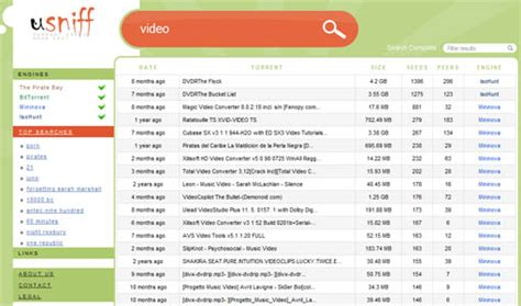 Finder Torrent Usniff Meta Torrent Search Engine