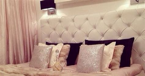 white and gold headboard glam white tufted headboard chic sophisticated teenage