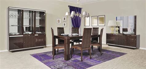 Modern Italian Dining Room Furniture Extendable Rectangular Wood And Leather Italian Modern Dining Room With Leaf Rochester New York