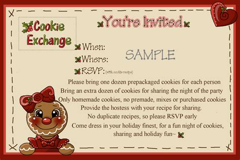 Rose Petal Hollow Cookie Exchange The Invitation Cookie Invitations Templates