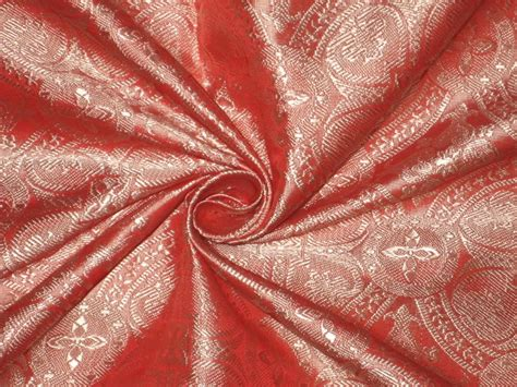 coral silk color silk brocade fabric light coral colour 44 quot vestment