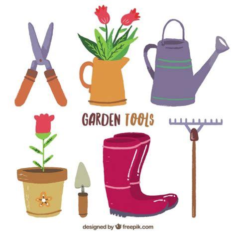 disegno giardino attrezzi da giardino disegni piatti scaricare vettori gratis
