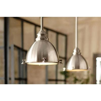 Kitchen Dome Ceiling Lighting by Home Decorators Collection 1 Light Ceiling Brushed Nickel