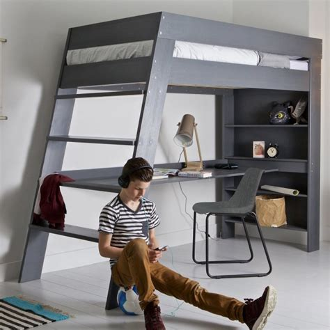 boys loft bed with desk unique home office desks