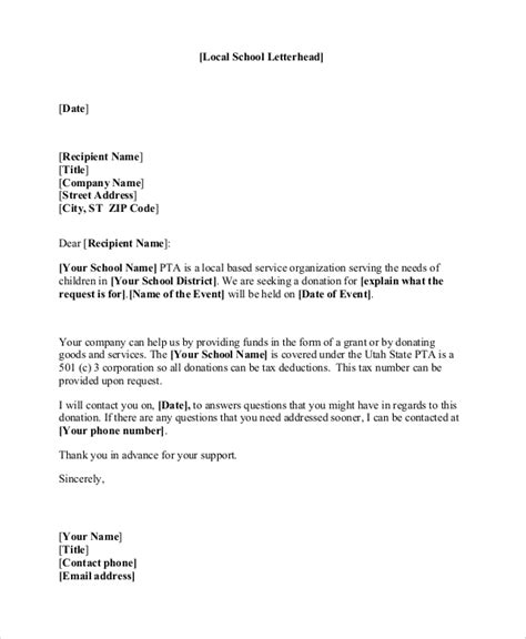 sample donation letter templates ms word