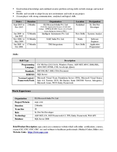 Resume Exle Relevant Experience Windows Azure Experience Resume 28 Images Small Resume Exle Azure Standard Klickitat