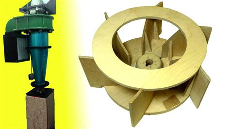 homemade dust collector upgrades part   impeller