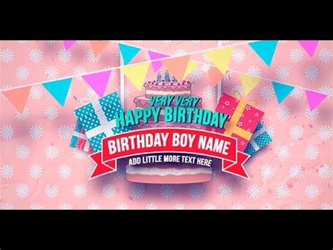 Happy Birthday Slideshow After Effects Template Youtube Birthday Slideshow Templates