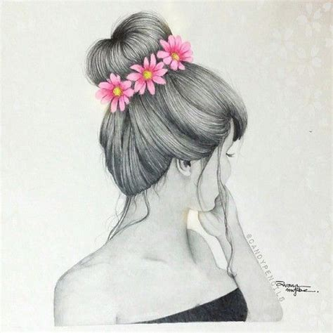 tumblr girl hair drawing 39 best images about drawings on pinterest drawing girls