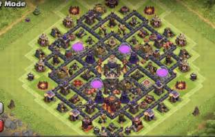 Protection farming base design th10 farming base inside town hall 02