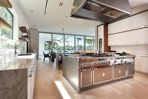 islanda cucina stainless steel kitchen with island miami by officine gullo
