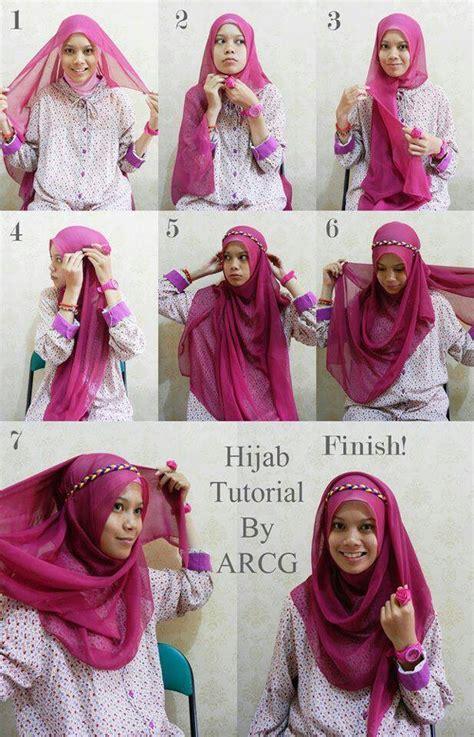 ini dia cara memakai hijab paris yang mudah untuk aktifitas sehari tutorial cara mudah memakai hijab modern paris 2015
