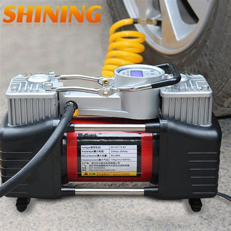 high pressure 12v air compressor for cars suv light trucks cylinder metal
