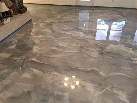 metallic epoxy living room floor contemporary living