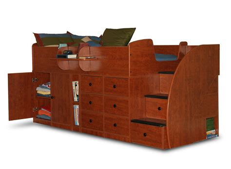 captain beds twin berg furniture captain s bed twin with drawers cabinet 3