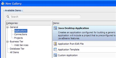 java swing application tutorial oracle jdeveloper 11g release 2 tutorials build a java