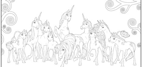 coloring pages mia and me game coloring pages