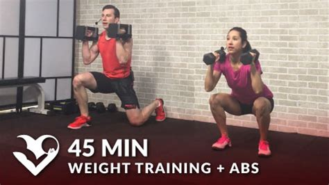 min weight training workout abs hasfit  full