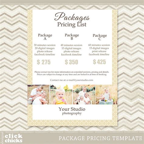 photography package pricing list template 008 c061