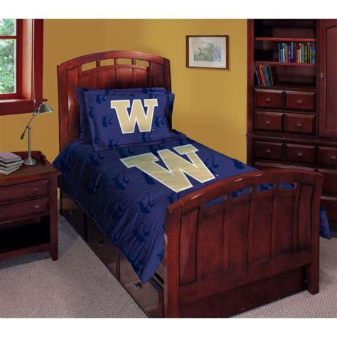washington huskies ncaa college twin comforter set 63 quot x 86 quot