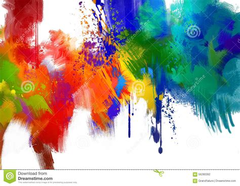 paint colorful abstract colorful paint stroke stock illustration image