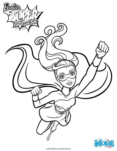 super barbie coloring page barbie super power 5 coloring pages hellokids com