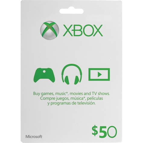 Xbox 360 Gift Card Template by Microsoft 50 Xbox Gift Card Xbox One 360 K4w 00002 B H