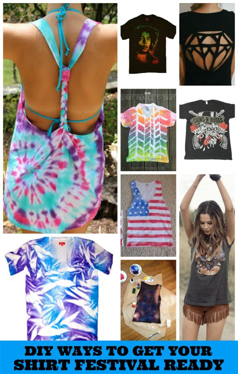 diy t shirt crafts how to get your t shirt ready for summer festivals