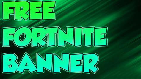 Free Fortnite Banner Template Youtube Fortnite Banner Template