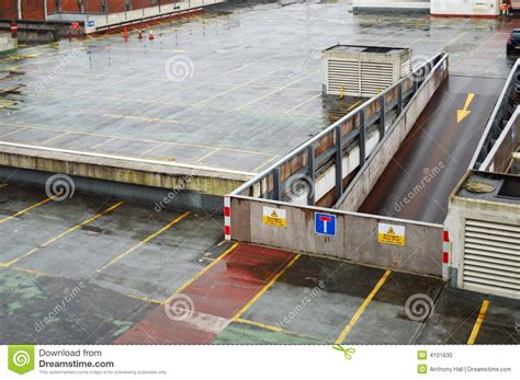 Sell In Deck by Rainy Parking Garage Roof Deck Stock Photo Image 4101830