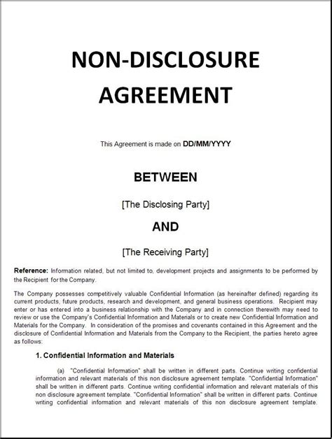 the 25 best ideas about non disclosure agreement on