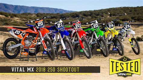 motocross 250f shootout 2018 vital mx 250 shootout motocross feature stories