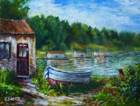 Landscape Pictures For Acrylic Painting Acrylic Landscapes Boat New Acrylic Painting
