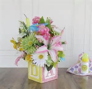 baby shower flower arrangement centerpiece artificial flower