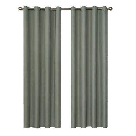 curtain panels 95 length eclipse dane blackout river blue curtain panel 95 in