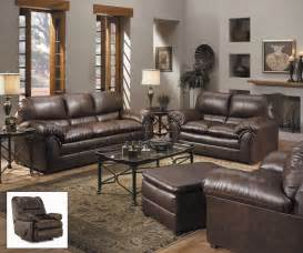 leather livingroom sets geneva classic brown bonded leather living room furniture set