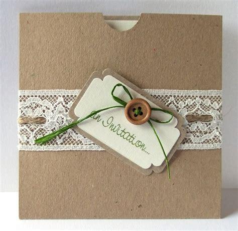 Einladungskarten Spitze Hochzeit by Handgemachte Einladungskarten F 252 R Hochzeit 90 Ideen