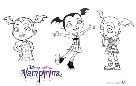 Vampirina Coloring Pages 3 In 1 Free Printable Coloring Free Printable Leaf Coloring Pagesll L