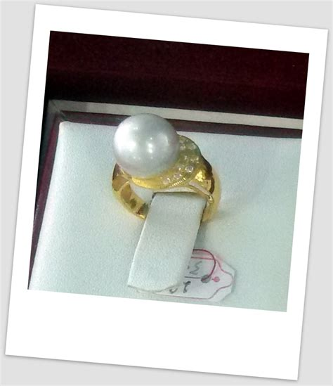 Promo Cincin Mutiara Lombok Air Tawar Khas Sekarbela 1 cincin mutiara emas 0048 harga mutiara lombok perhiasan