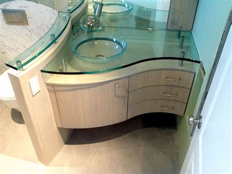 custom bathroom sinks handmade curved vanity bamboo by serrao cabinets design